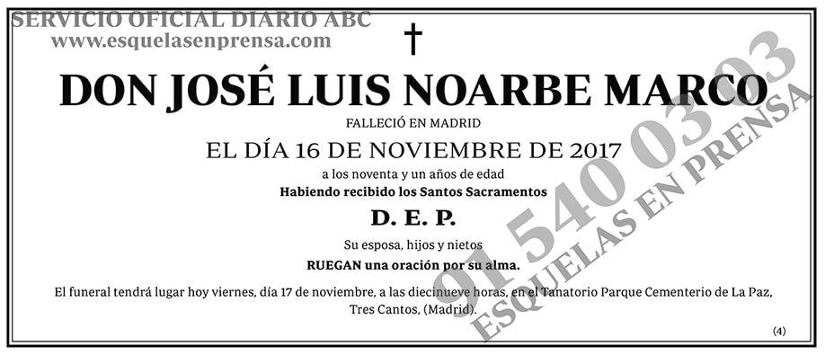 José Luis Noarbe Marco